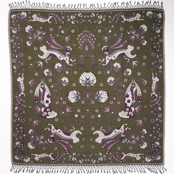 large_rabbit_shawl_green